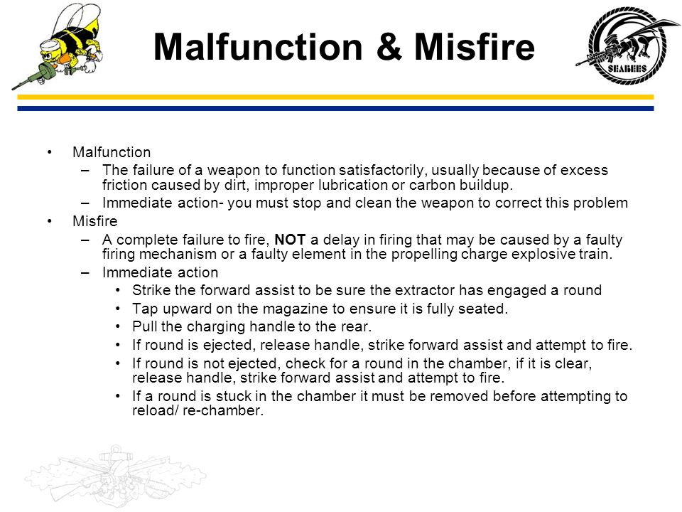 Malfunction & Misfire Malfunction