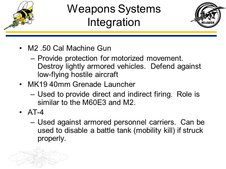 Weapons Systems Integration
