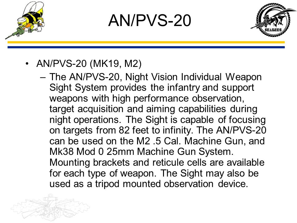 AN/PVS-20 AN/PVS-20 (MK19, M2)