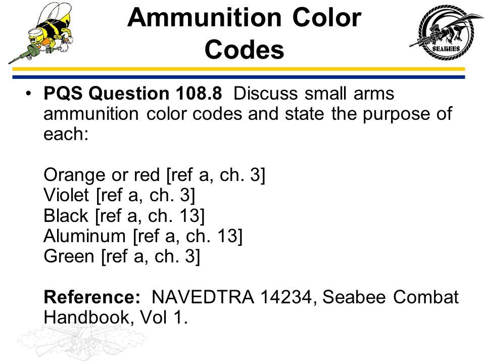 Ammunition Color Codes