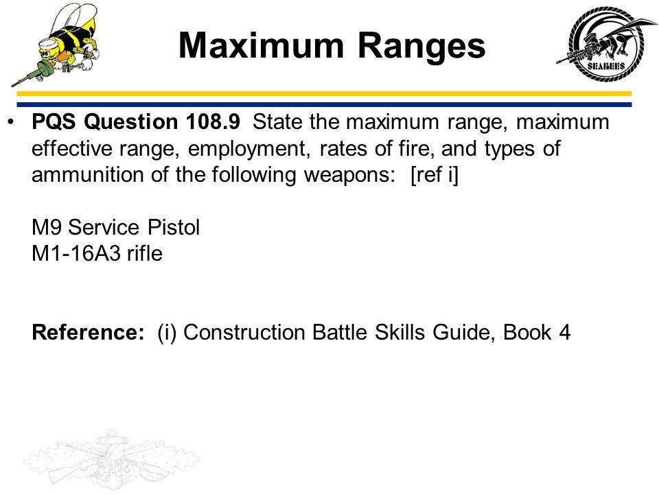 Maximum Ranges