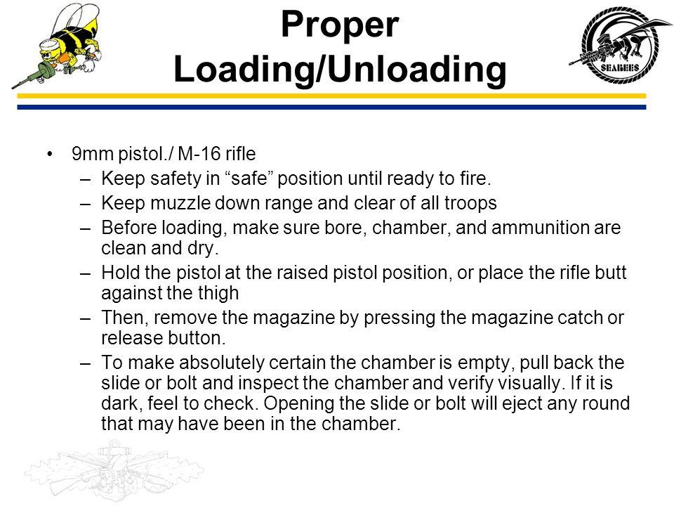 Proper Loading/Unloading
