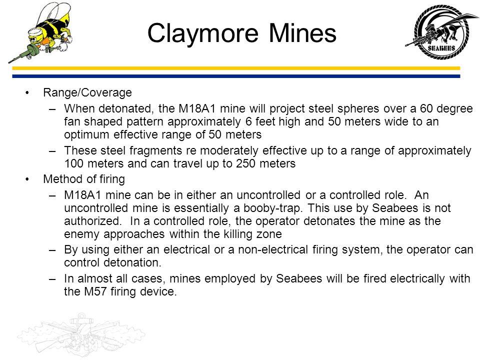 Claymore Mines Range/Coverage