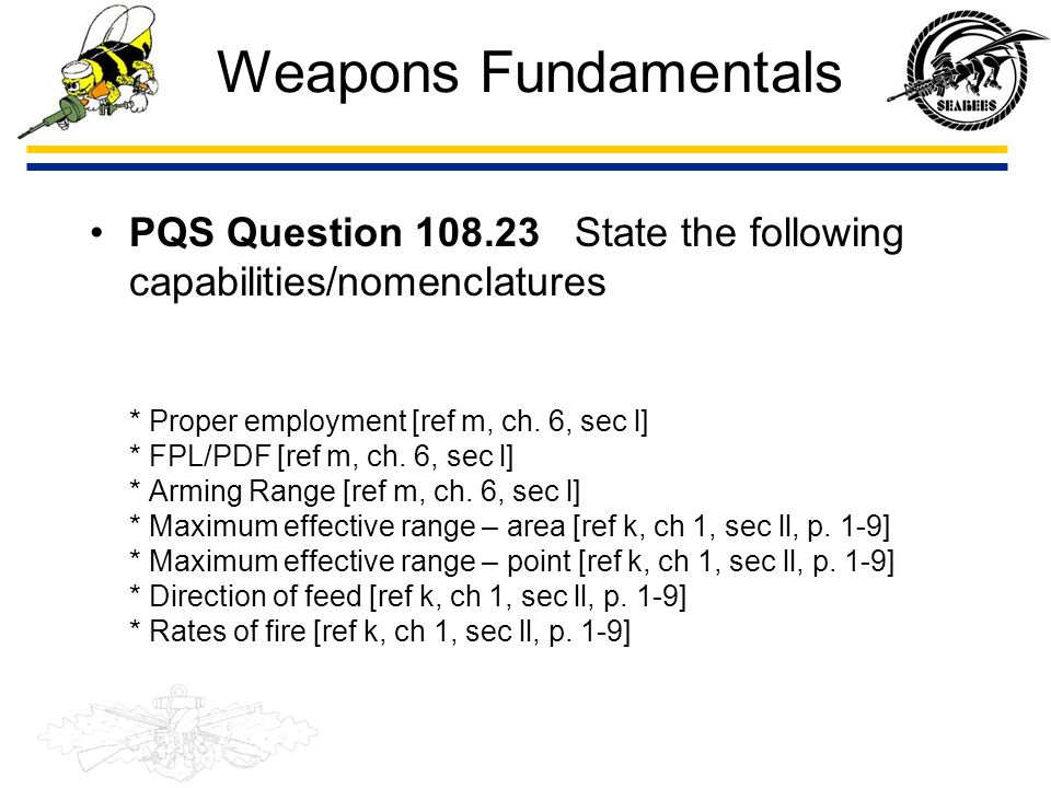 Weapons Fundamentals