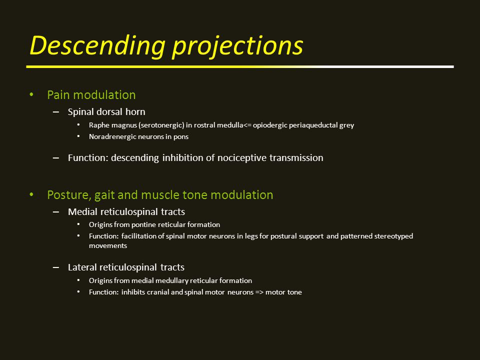 Descending projections