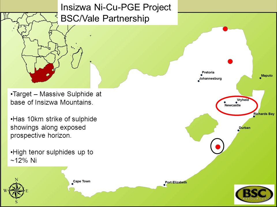 Insizwa Ni-Cu-PGE Project BSC/Vale Partnership