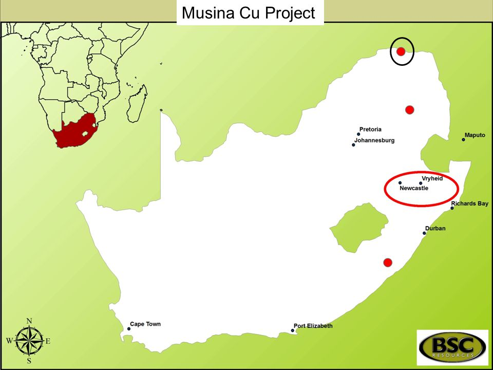 Musina Cu Project Main objective of the Project.