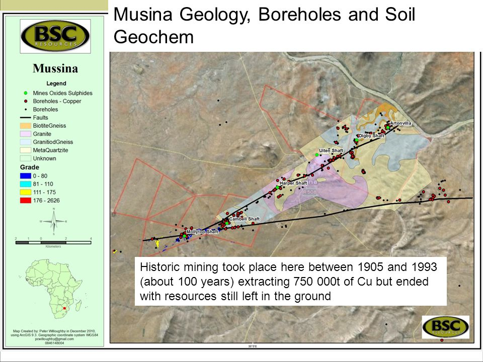 Musina Geology, Boreholes and Soil Geochem