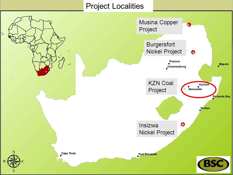 Project Localities Musina Copper Project Burgersfort Nickel Project