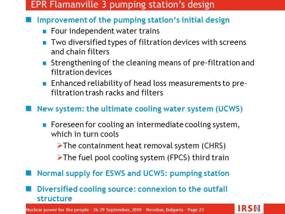 EPR Flamanville 3 pumping station's design