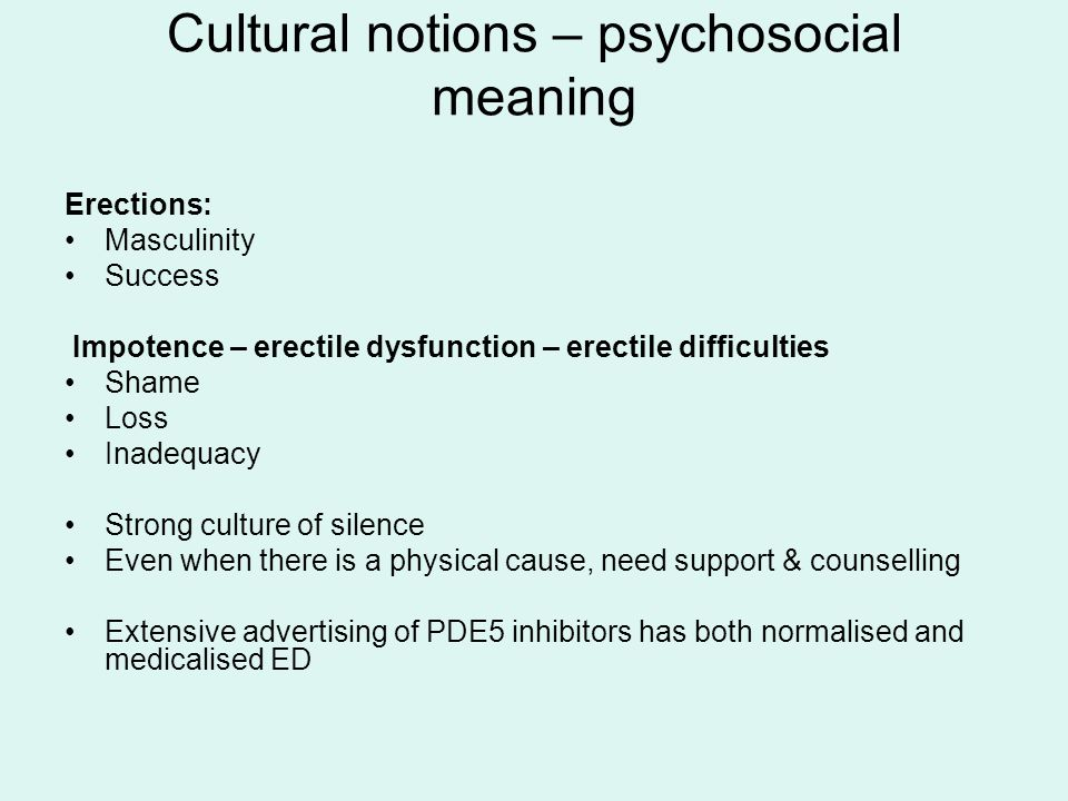 Cultural notions – psychosocial meaning