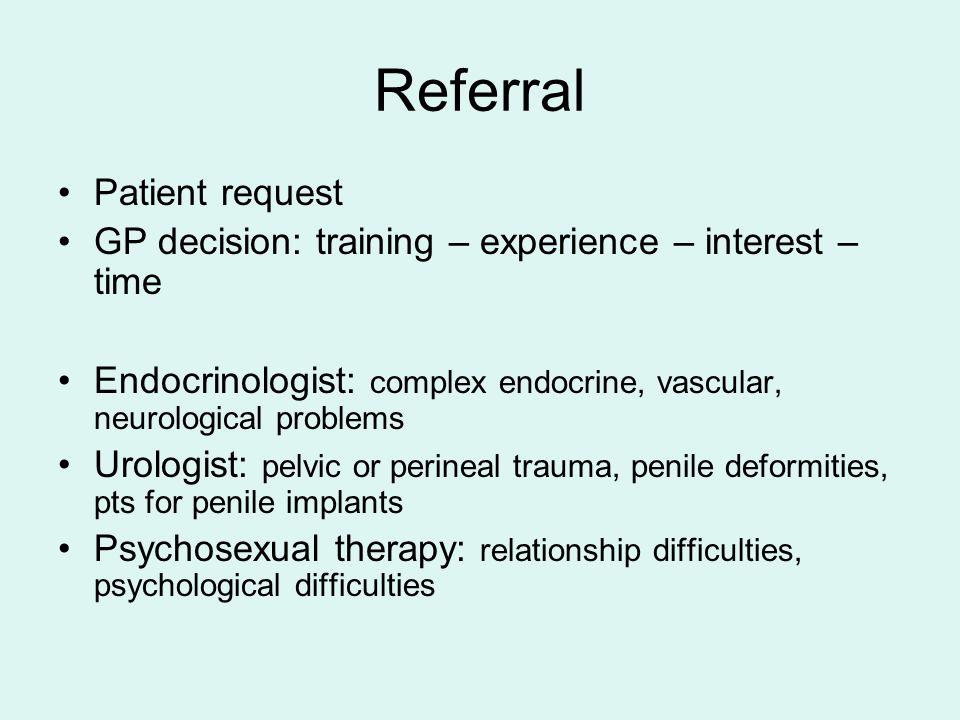 Referral Patient request