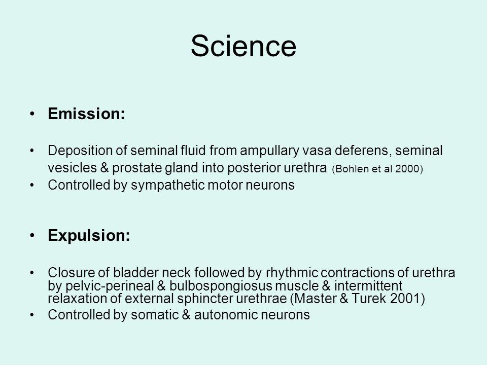Science Emission: Expulsion: