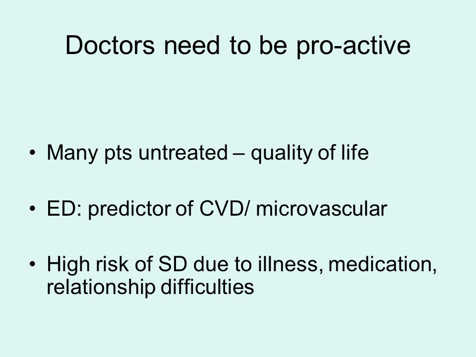 Doctors need to be pro-active