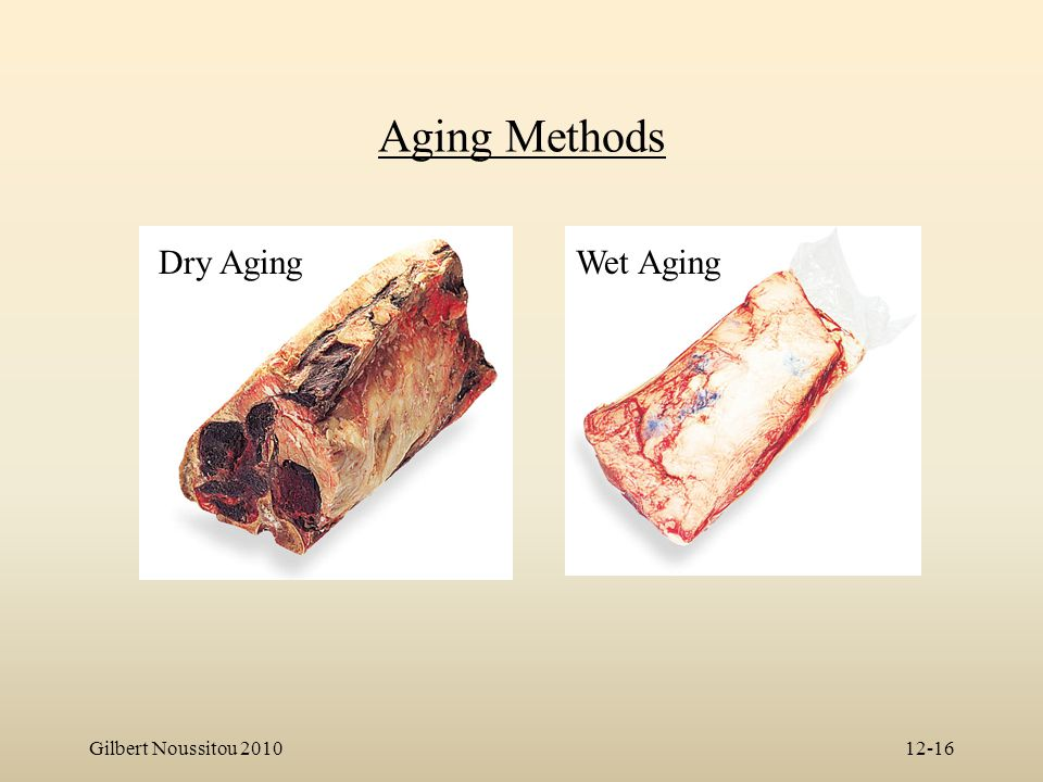 Aging Methods Dry Aging Wet Aging Gilbert Noussitou 2010