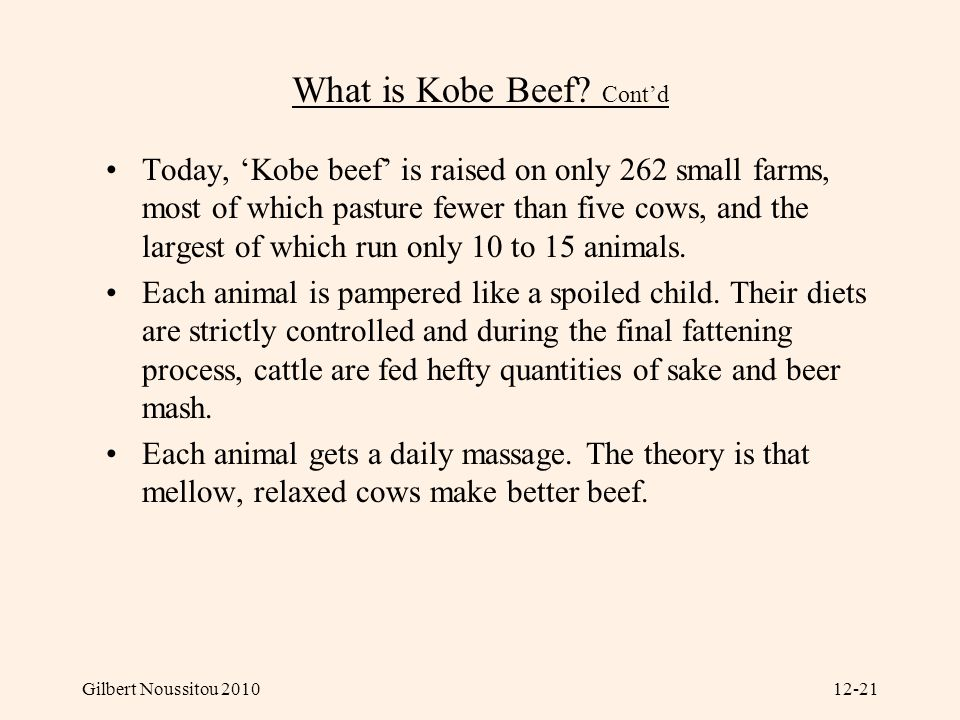 What is Kobe Beef Cont'd