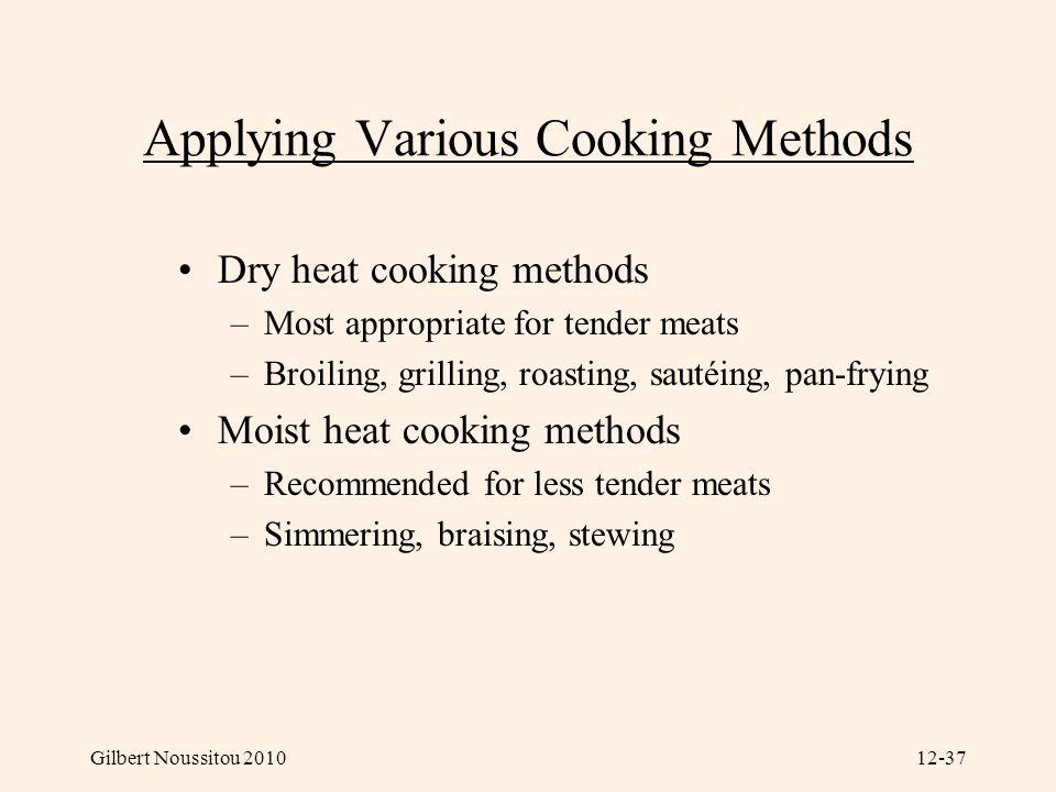 Applying Various Cooking Methods