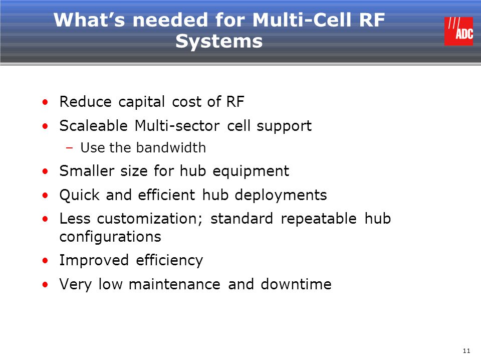 What's needed for Multi-Cell RF Systems