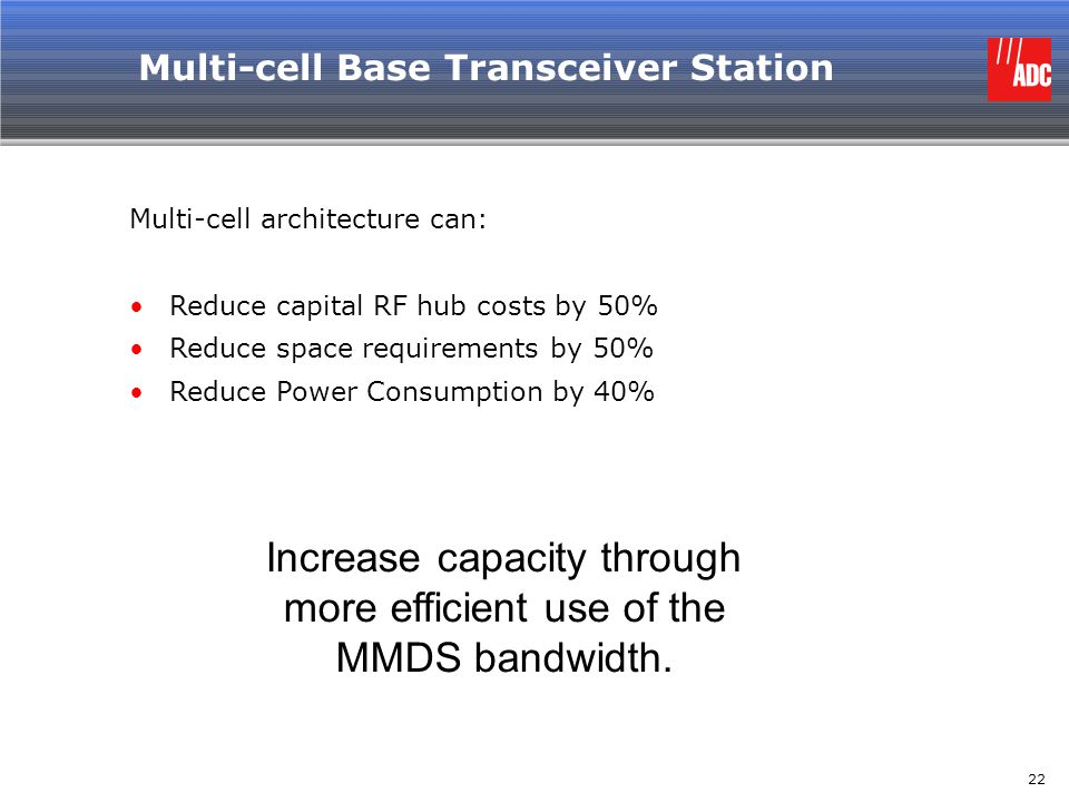 Multi-cell Base Transceiver Station