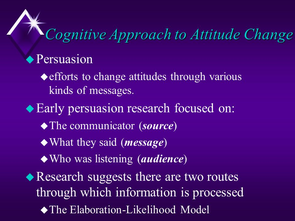 Cognitive Approach to Attitude Change
