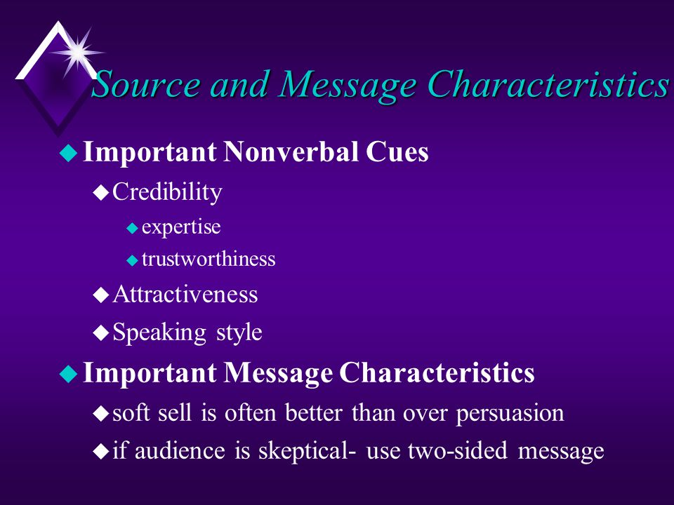 Source and Message Characteristics