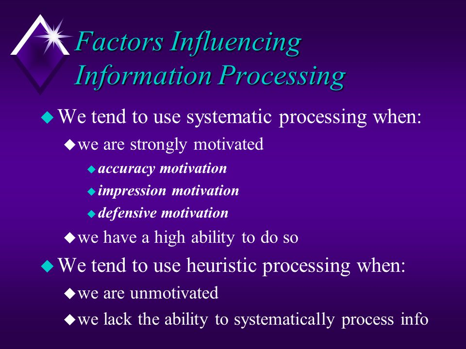 Factors Influencing Information Processing