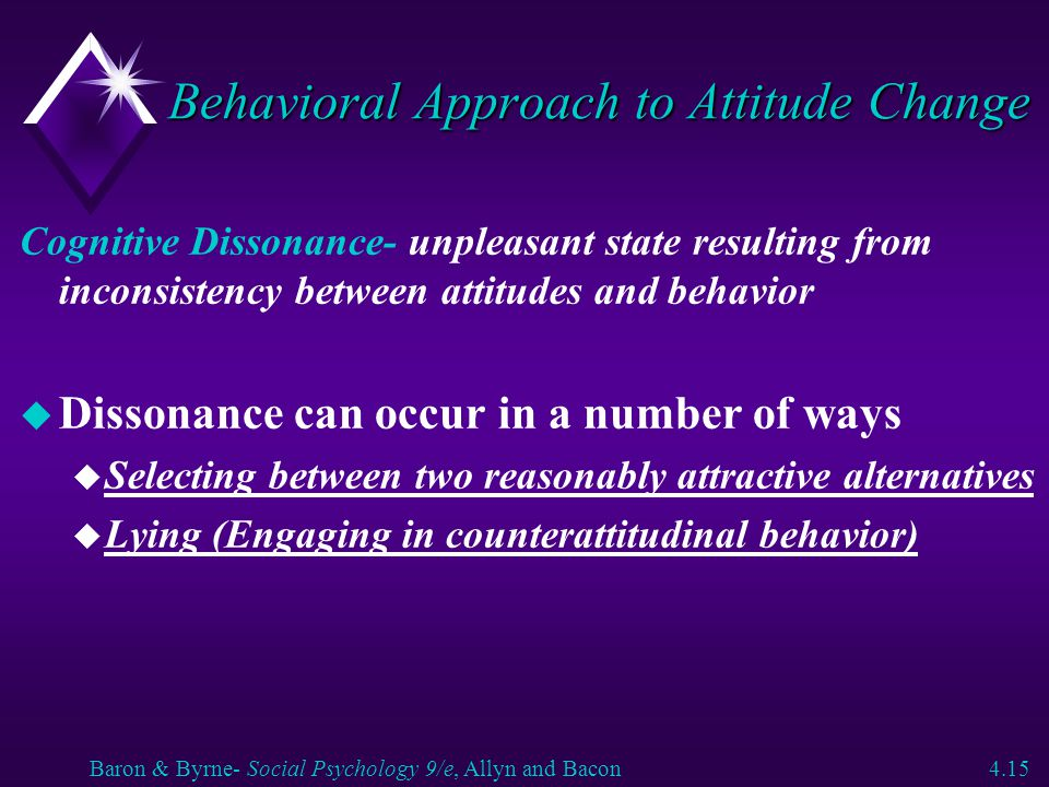 Behavioral Approach to Attitude Change