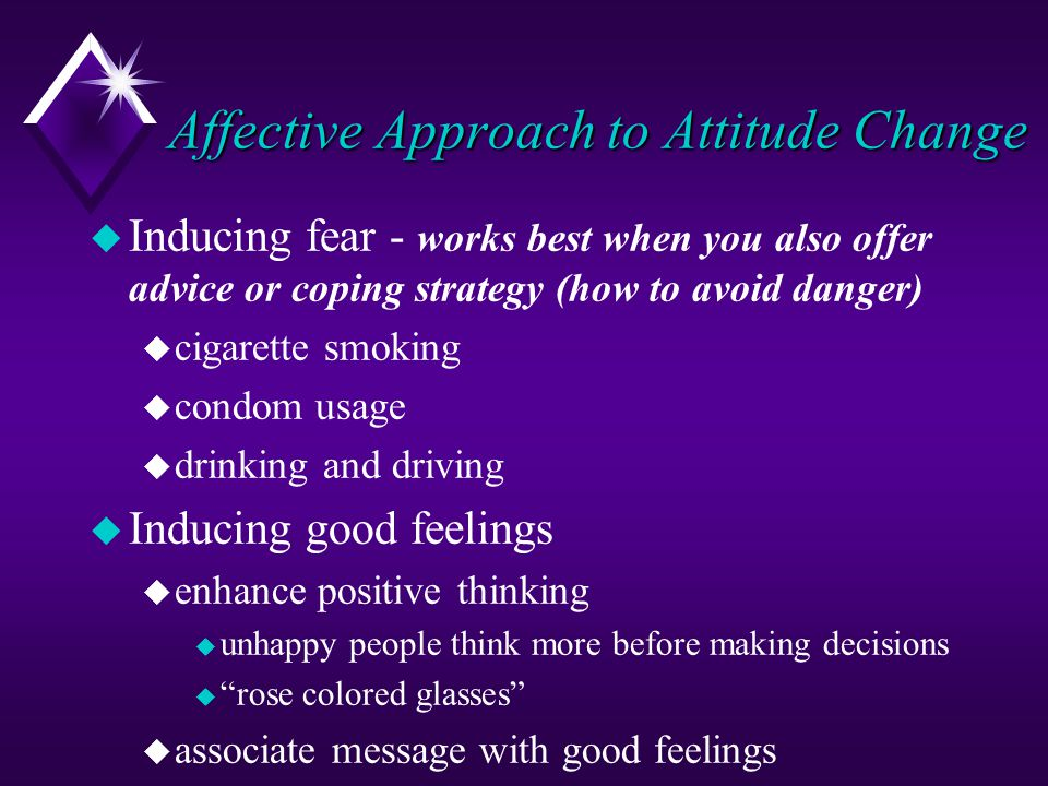 Affective Approach to Attitude Change