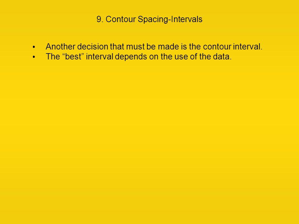 9. Contour Spacing-Intervals