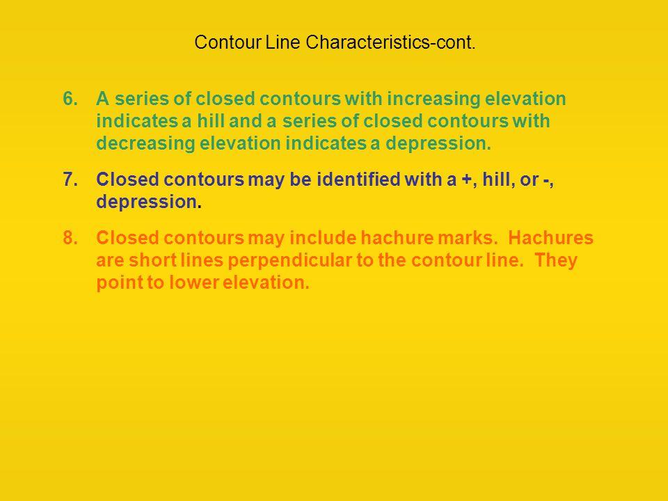 Contour Line Characteristics-cont.