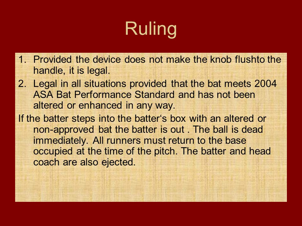Ruling Provided the device does not make the knob flushto the handle, it is legal.