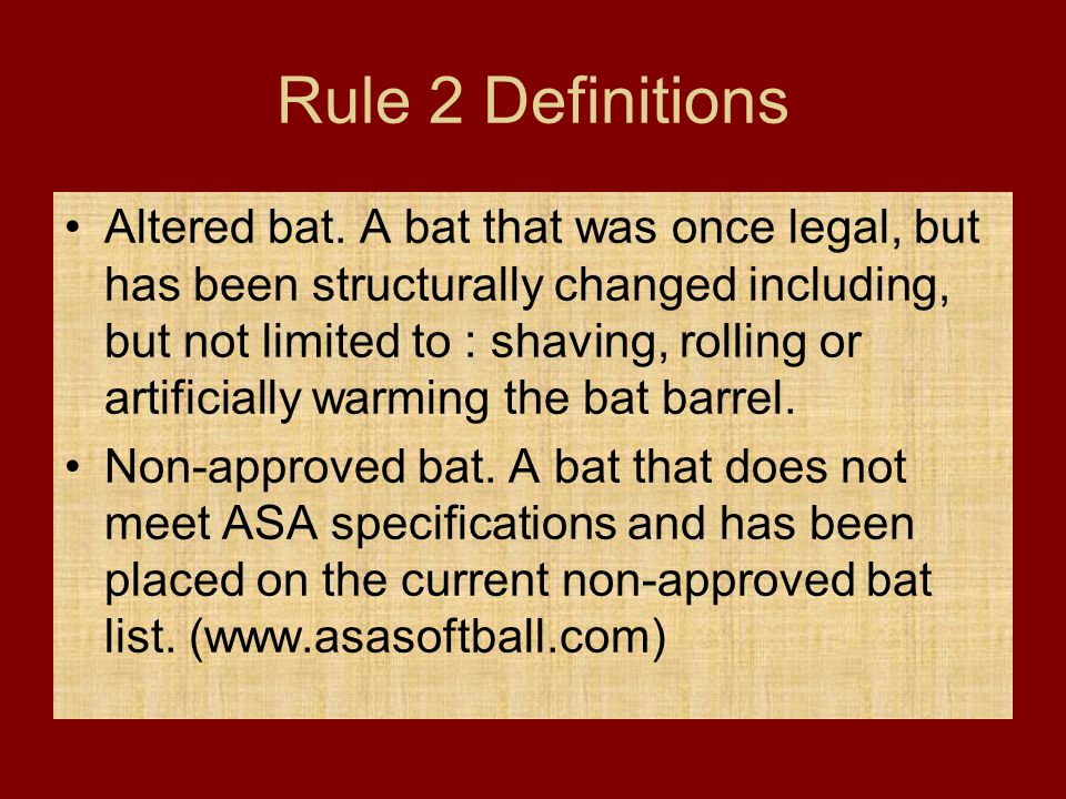 Rule 2 Definitions