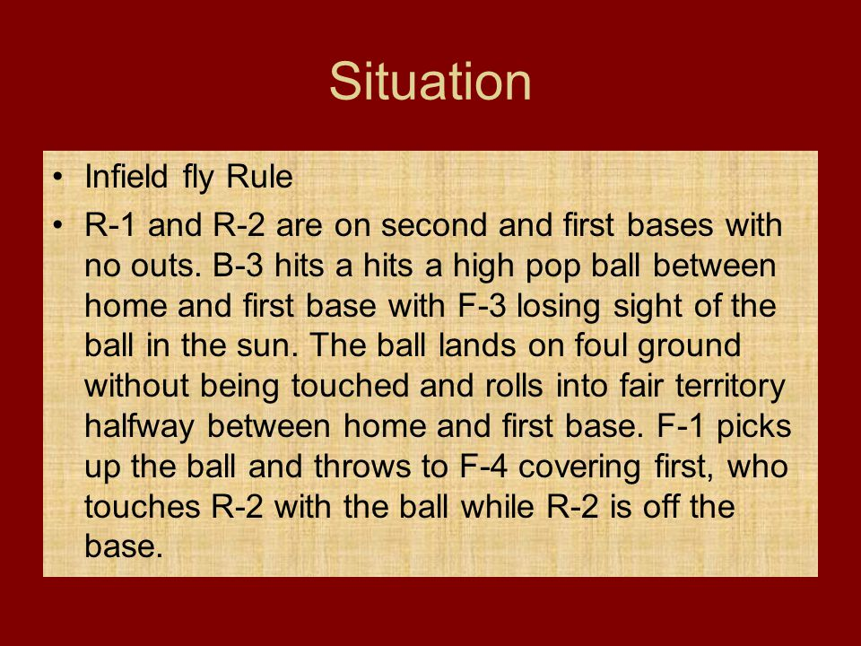 Situation Infield fly Rule
