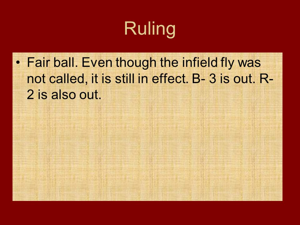 Ruling Fair ball. Even though the infield fly was not called, it is still in effect.