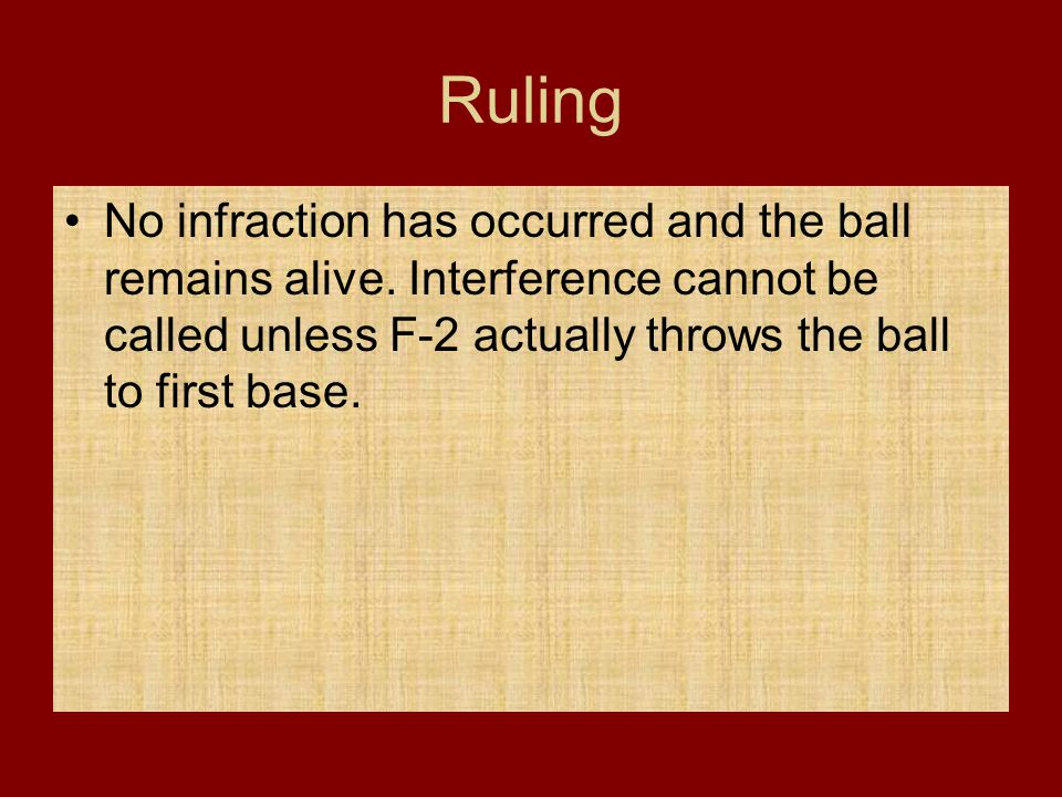 Ruling No infraction has occurred and the ball remains alive.