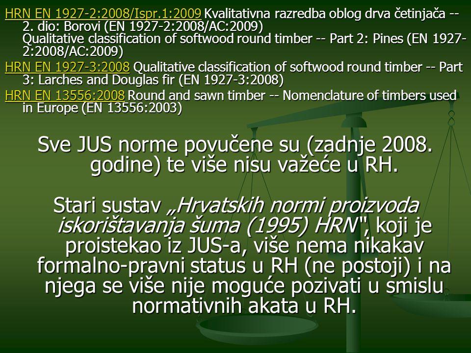 HRN EN 1927-2:2008/Ispr.1:2009 Kvalitativna razredba oblog drva četinjača -- 2. dio: Borovi (EN 1927-2:2008/AC:2009) Qualitative classification of softwood round timber -- Part 2: Pines (EN 1927-2:2008/AC:2009)