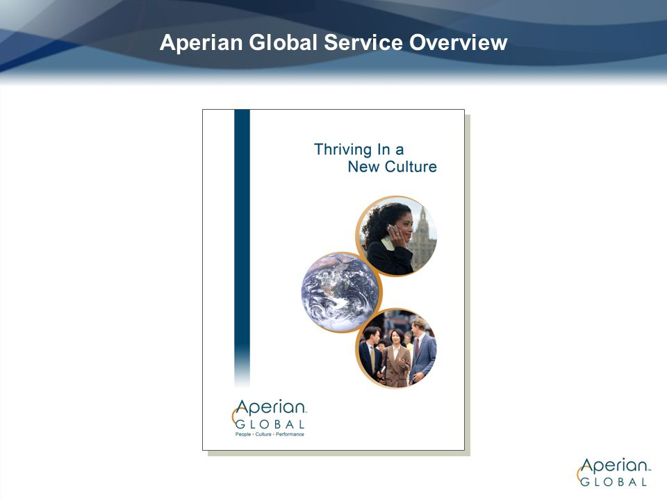 Aperian Global Service Overview