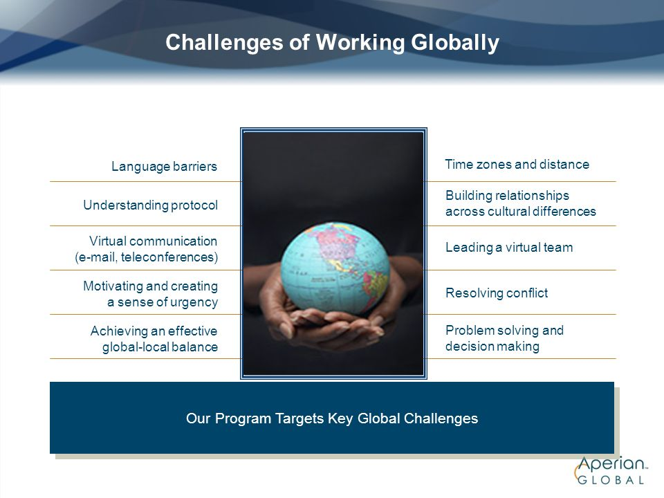 Challenges of Working Globally