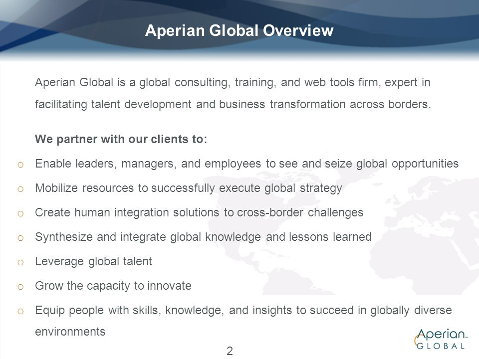 Aperian Global Overview