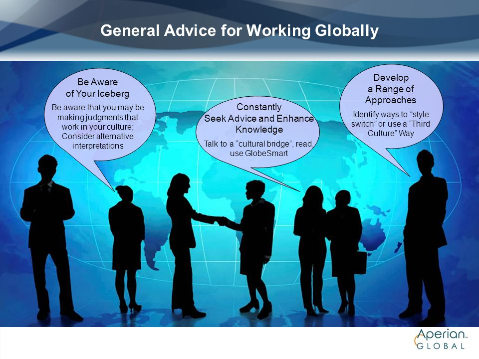 General Advice for Working Globally
