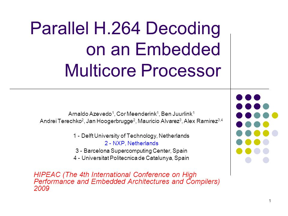 Parallel H.264 Decoding on an Embedded Multicore Processor