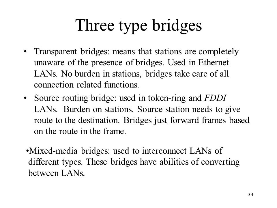Three type bridges