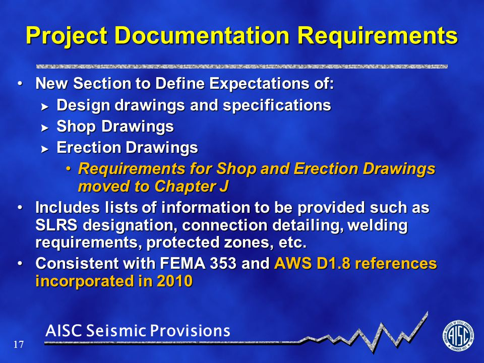 Project Documentation Requirements