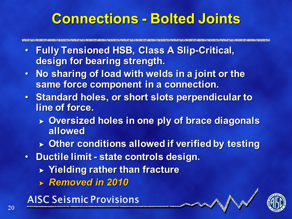 Connections - Bolted Joints