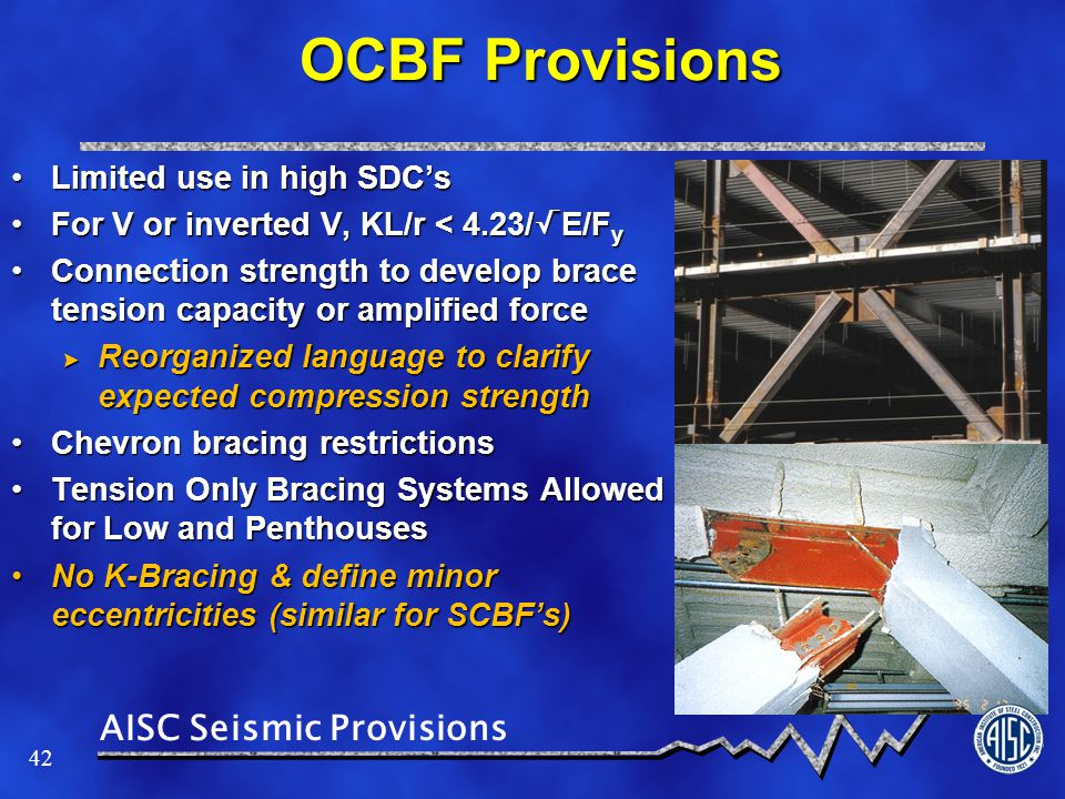 OCBF Provisions Limited use in high SDC's