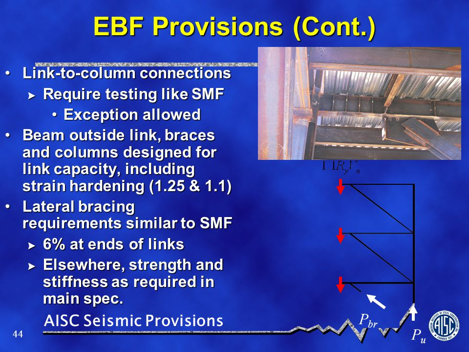 EBF Provisions (Cont.) Link-to-column connections