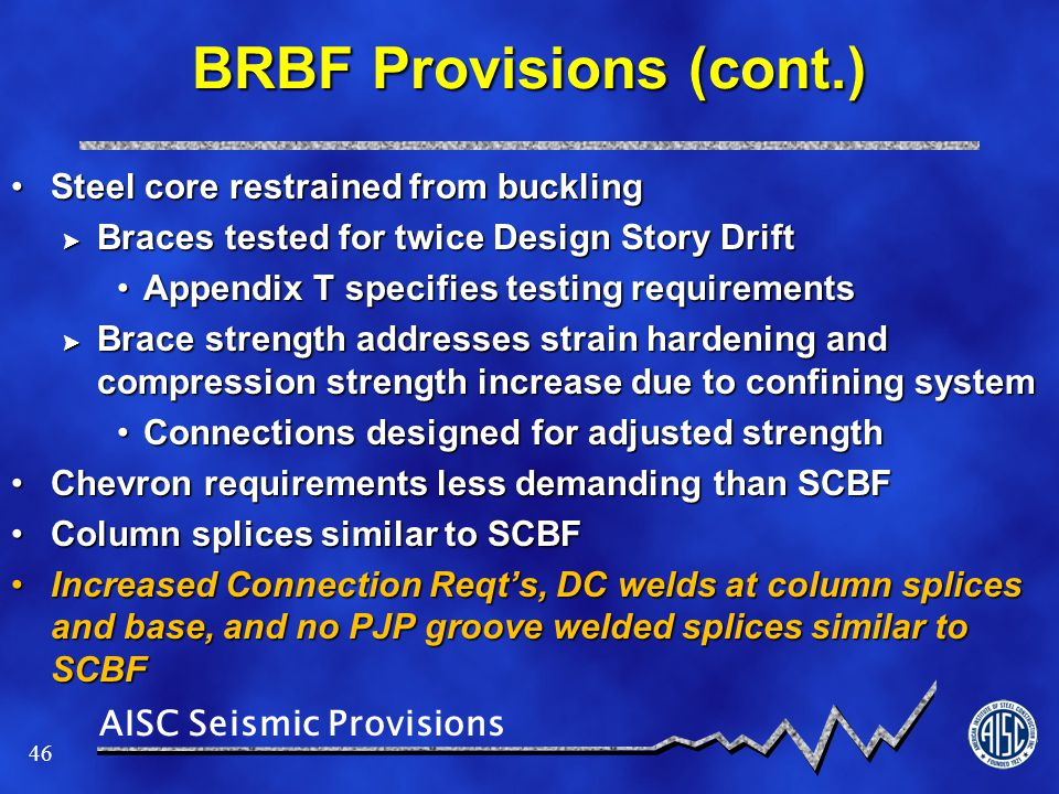 BRBF Provisions (cont.)