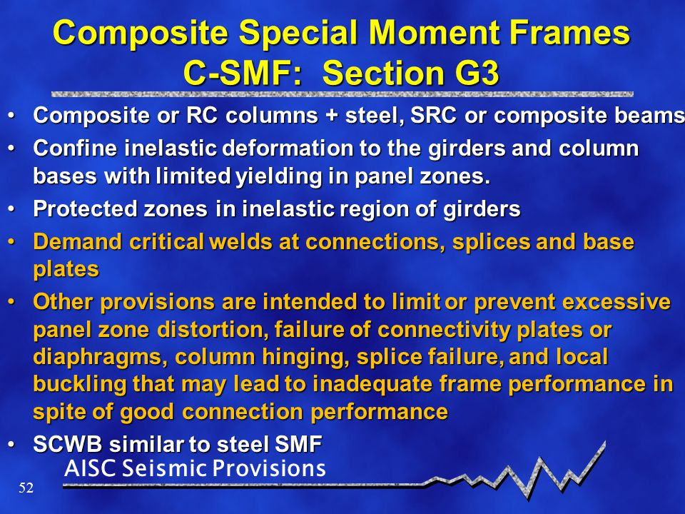 Composite Special Moment Frames C-SMF: Section G3