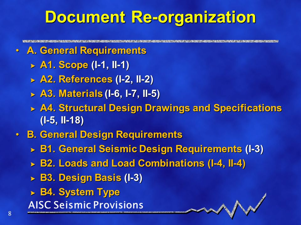 Document Re-organization