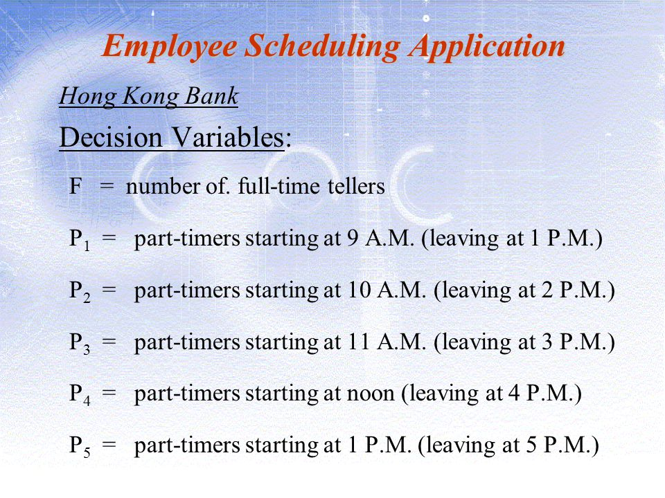 Employee Scheduling Application